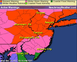 Map Of Middlesex County Nj Blizzard Warning Expanded In N J As U0027life Threatening U0027 Storm
