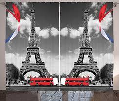 Eiffel Tower Room Decor Eiffel Tower Paris Decor For Bedroom Digital Print Curtains City