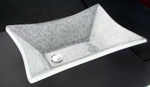 buy a hand crafted master bathroom glass sinks with offset drain