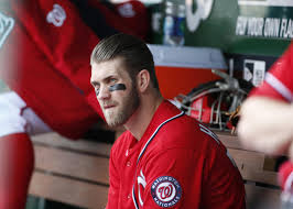What Is Bryce Harper Haircut Called Bryce Harper Takes Bp Moves A Step Closer To Return From Thumb