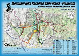 Piedmont Italy Map by Mountain Bike Paradise Maira Valley Piemont