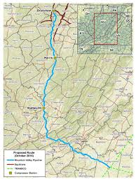 United States Map Mountains by Mountain Valley Pipeline Project