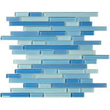 buy blue uniform brick glass glossy iridescent tile loversiq