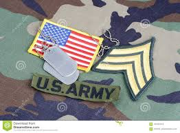 Uniform Flag Patch Us Army Sergeant Rank Patch Branch Tape Flag Patch And Dog Tags