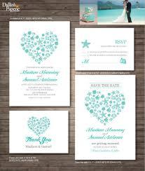 diy wedding invitation beach wedding invitation printables destination wedding heart