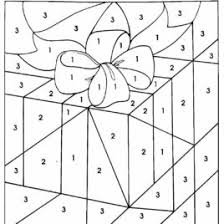 christmas color by number free printable coloring page color by
