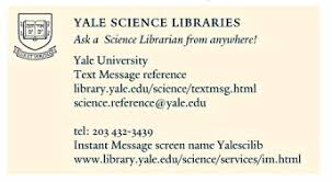 yale business card january 2008 the web