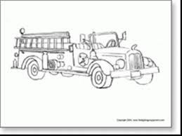 incredible gallery cartoon fire truck coloring pages fire