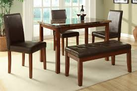 Bench Dining Tables Brown Leather Dining Table And Chair Set Steal A Sofa Furniture