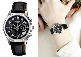 Jam Tangan Fashion Kulit Elegan 3 Model Jam Tangan Wanita Tali Kulit Terpopuler Jam Casio Jam