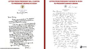 read george w bush u0027s inauguration day letter to barack obama