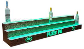 Green Bay Packers Home Decor 3 Step Liquor Display W Green Bay Packers Logo U0026 Reptilian Finish