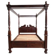 100 wooden 4 poster king size bed queen bed frame with hook