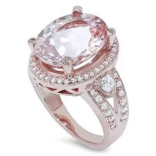 3 4ct pave halo blue 9ct morganite u0026 diamond engagement ring 14k rose gold halo split