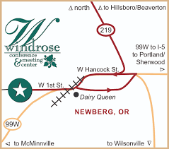 Mcminnville Oregon Map by Contact Windrose Conference Center Meetings Events Weddings