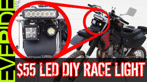 Brightest Led Light Bar by How To Install The 55 Super Bright Led Dirt Bike Headlight Mod O