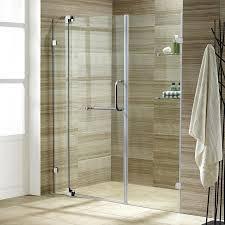 shop vigo pirouette 54 in to 60 in frameless chrome hinged shower