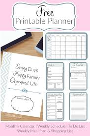 weekly family meal planner template printable planner pin png get organized with this free printable planner everything you need including a monthly calendar