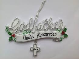personalized godfather uncle christmas ornament baby boy u0027s u0027s