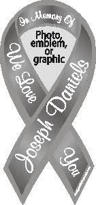 custom awareness ribbons custom personalized awareness ribbon magnets and stickers with