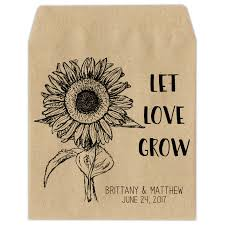 personalized seed packets custom seed packets wedding favors baby showers memorials