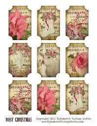 ephemera u0027s vintage garden free printable rosy christmas gift tags