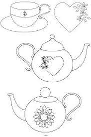 teapot and teacup applique template pdf applique by kipandfig
