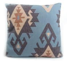 taie d oreiller pour canapé haut de gamme impression numérique bleu turc ethniques kilim diamant