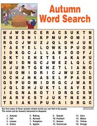 18 fun fall word search puzzles kitty baby love