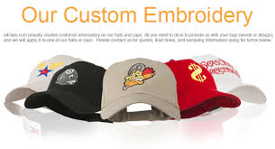 embroidery your unique design on hats and caps e4hats