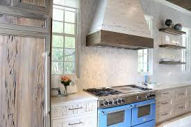 Blue Kitchens With White Cabinets White Kitchen Hood With Wood Trim Design Ideas