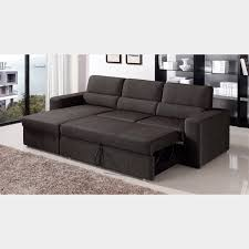 Modern Sleeper Sofa Sectional Clubber Sleeper Sectional Left Chaise Black Brown Zuri