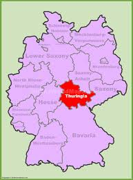 map of gemany thuringia maps germany maps of thuringia thüringen