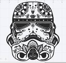 wars trooper sugar skull design svg eps dxf studio 3