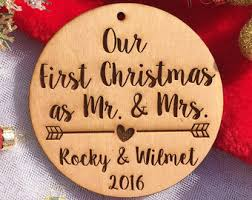 First Christmas Personalized Ornaments - mr and mrs ornament etsy
