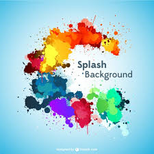 paint splashes background vector free download