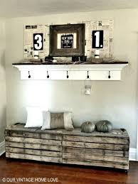 Rustic Pallet Bench Entryway Decorating Ideas Foyer Decorating