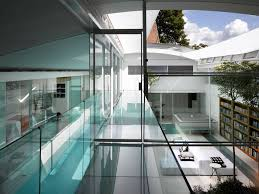 architecture design minimalist building with glass excerpt house