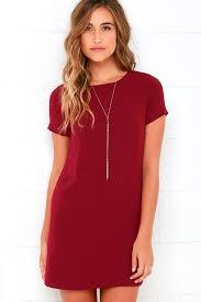 shift dress chic wine dress shift dress sleeve dress 48 00
