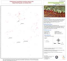 Nepal On Map Earthquake And Landslide In Nepal And India Charter Activations