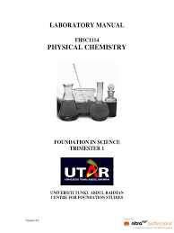 physical chemistry lab manual molar concentration titration