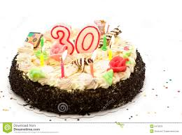 birthday cake 30 years royalty free stock photos image 6473878