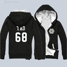 best wholesale new kpop exo team members number hoody exo plus