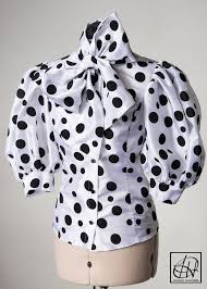 black polka dot blouse black multi polka dot taffeta bow blouse