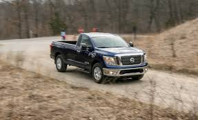 nissan truck titan 2017 2017 nissan titan v 8 4x4 single cab test review car and driver