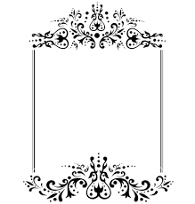 invitation card monogram on dark blue stock illustration