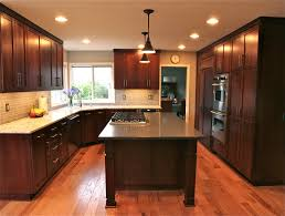 1990 kitchen remodel shaker style cherry cabinets with stain
