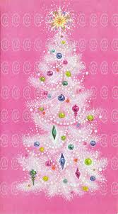 digital vintage card tree pink