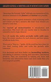 periodic table science book memorize the periodic table the fast and easy way to memorize