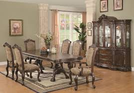 andrea brown cherry wood dining table set steal a sofa furniture